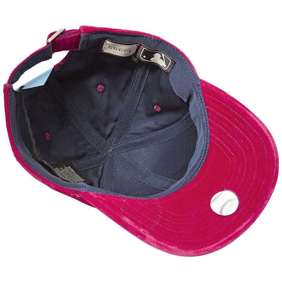 099dfb278da17 Gucci Velvet Cap- Fuchsia - Apparel - Fashion   Apparel - Jomashop