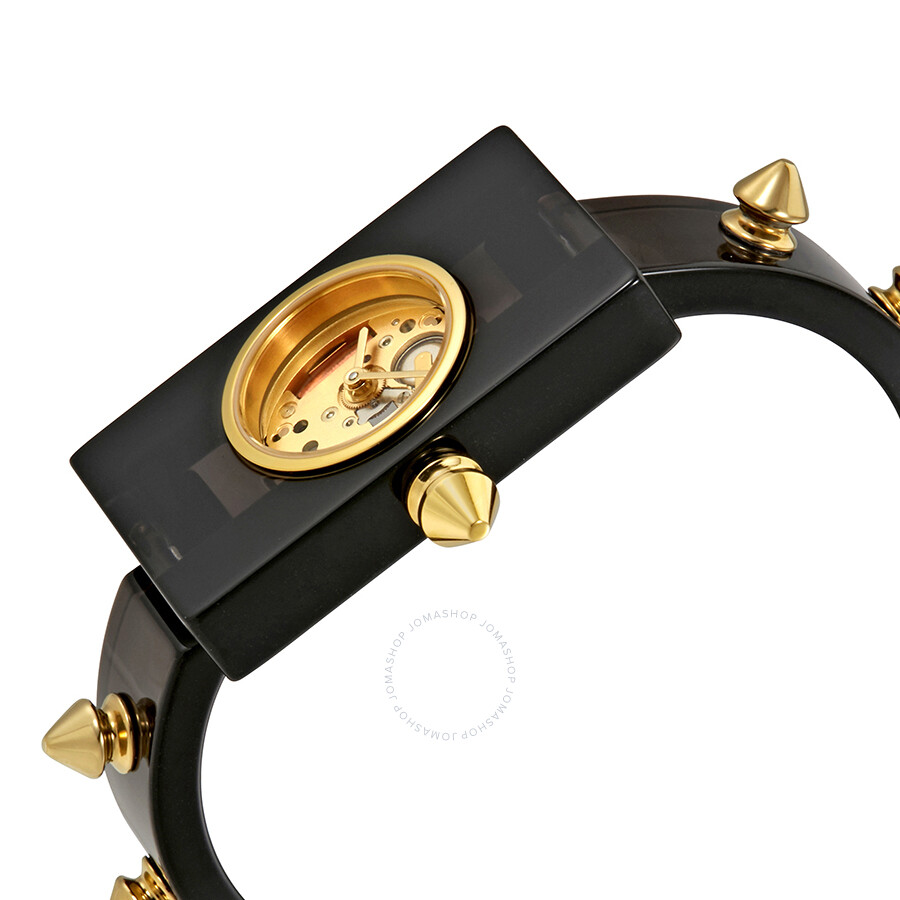 8324e4139b0 Gucci Vintage Web Gold Skeletal Dial Ladies Watch YA143508 - Gucci ...