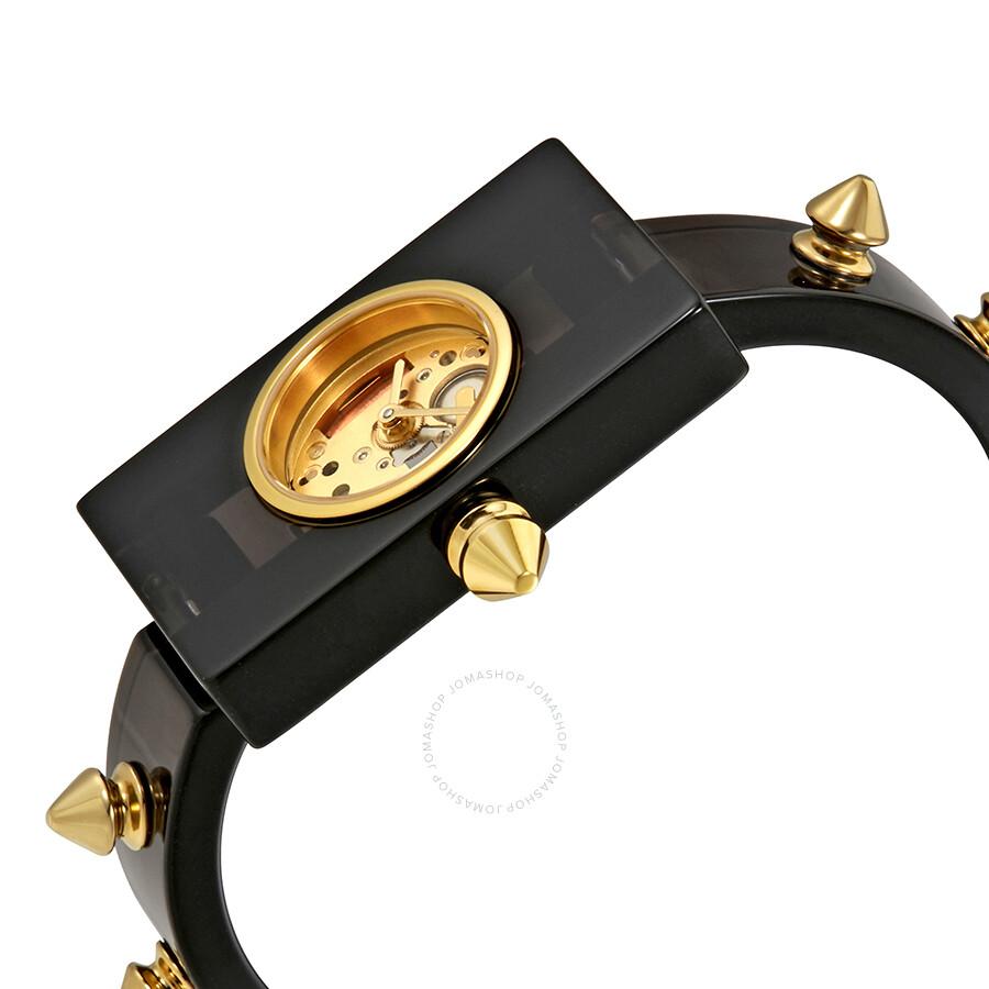 63683dbf2e4 Gucci Vintage Web Gold Skeletal Dial Ladies Watch YA143508 - Gucci ...