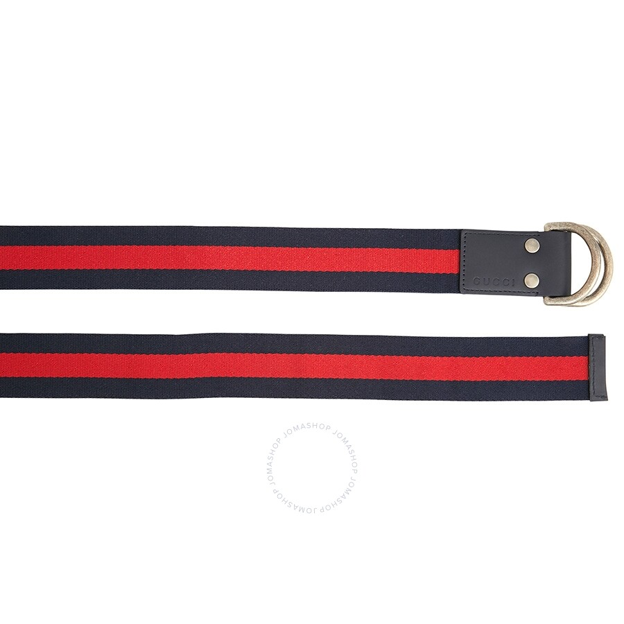 930505c2171 Gucci Web Belt with D-ring- Blue Red - Apparel - Fashion   Apparel ...
