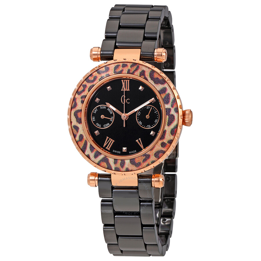 87c8b3077 Guess Black Dial Ladies Ceramic Watch X35016L2S - Guess - Watches ...