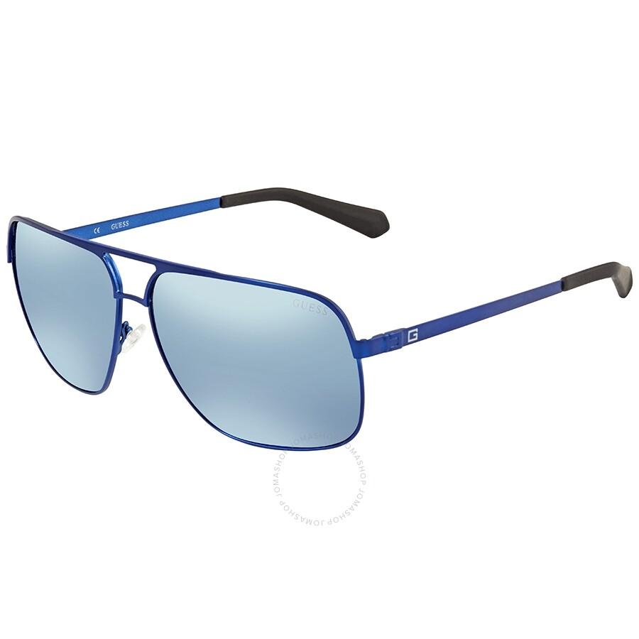 7fb5854cf Guess Blue Mirror Aviator Sunglasses GU6840 91X 63 Item No. GU6840 91X 63