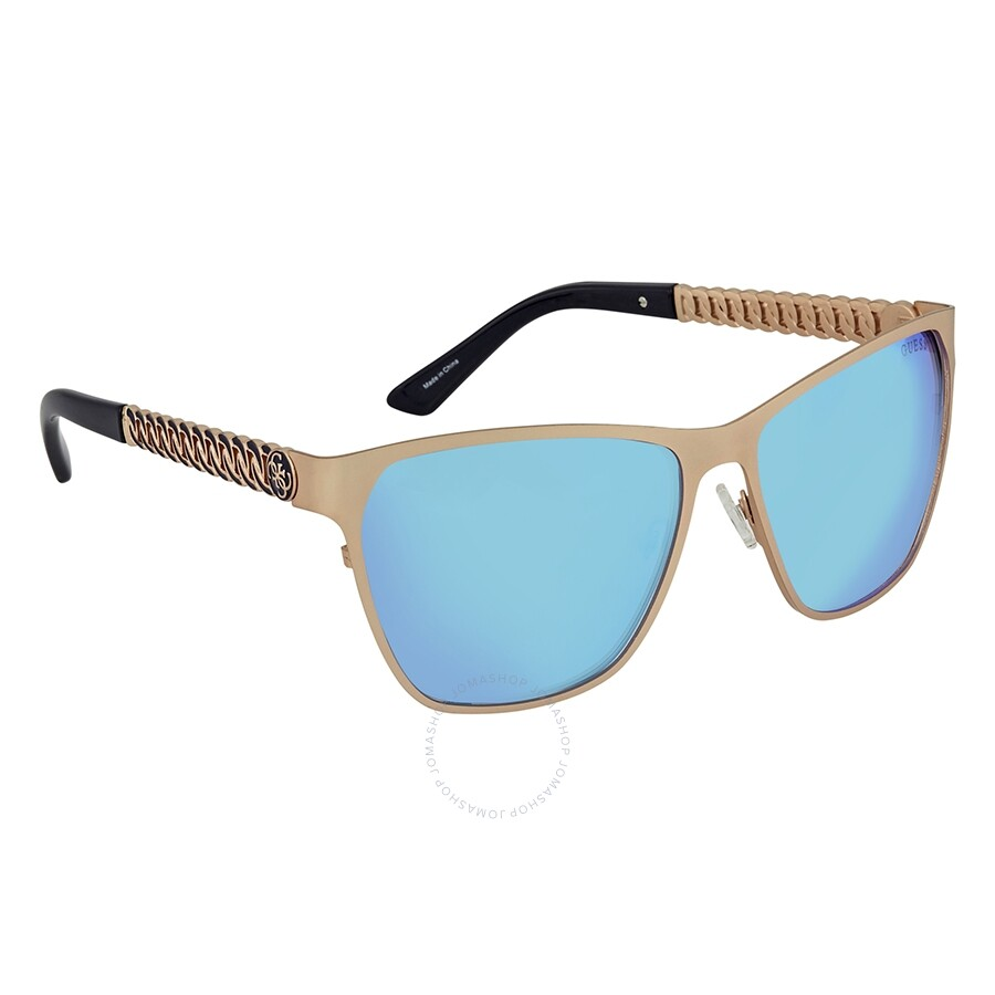 8284bf051 Guess Blue Mirror Square Sunglasses GU7403 29X 58 Item No. GU7403 29X 58