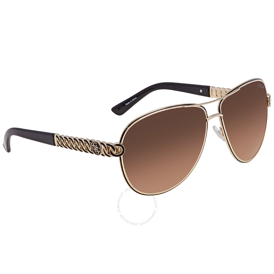 bad0b3182b Guess Brown Gradient Aviator Sunglasses GU7404 32D 59 - Guess ...