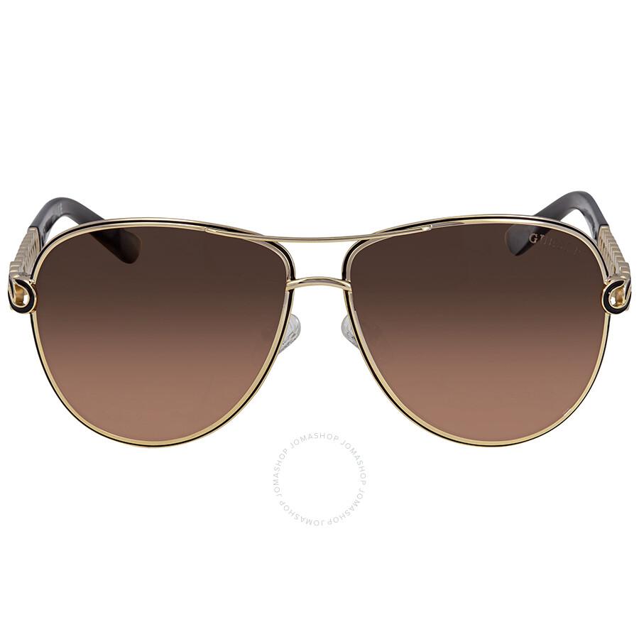 bad0b3182b Guess Brown Gradient Aviator Sunglasses GU7404 32D 59 - Guess ...