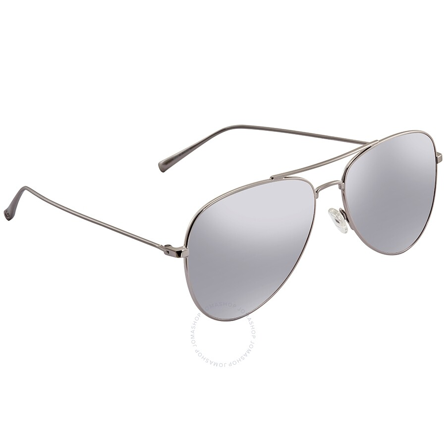 0415aa021 Guess by Guess Grey Silver Mirror Aviator Sunglasses GG212408C59 ...