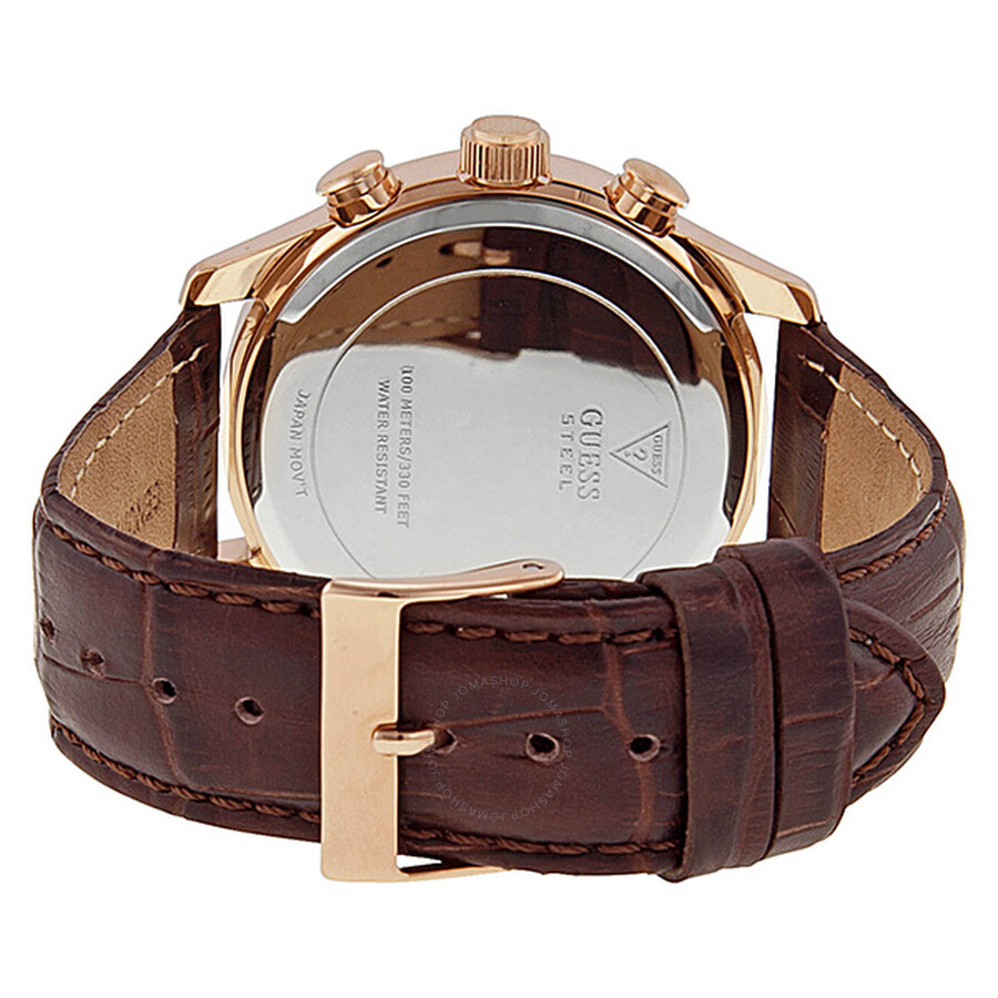a22044058 ... Guess Capitol Chronograph Brown Dial Rose Gold-tone Ladies Watch  SU14504G1
