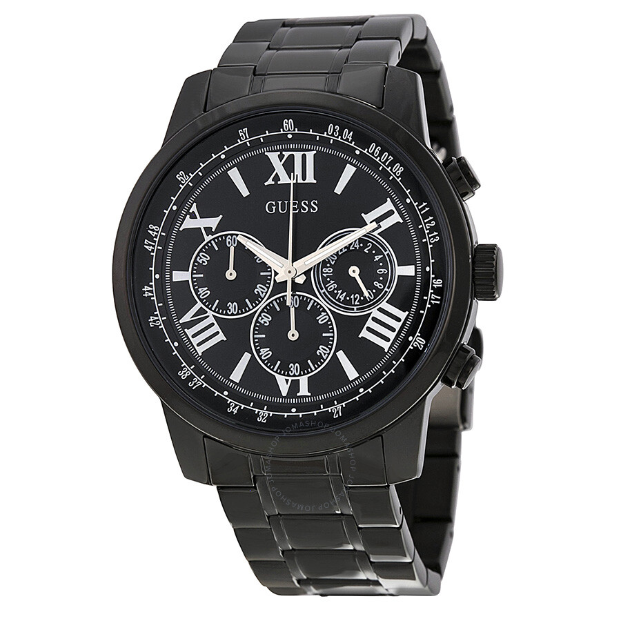 c25fa225ef021 Guess Chronograph Black Dial Black Ion-plated Men's Watch U0379G2