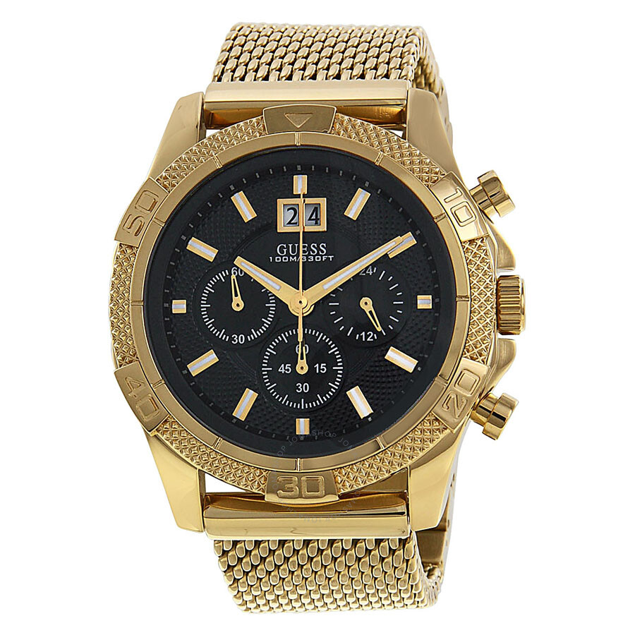 f516ed992 Guess Chronograph Black Dial Gold-tone Men's Watch U0205G1 - Watches ...