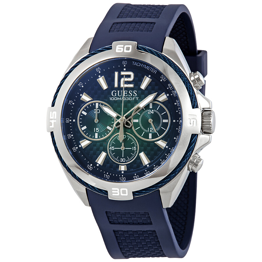 41312945c8401 Guess Chronograph Blue Dial Men's Watch W1168G1