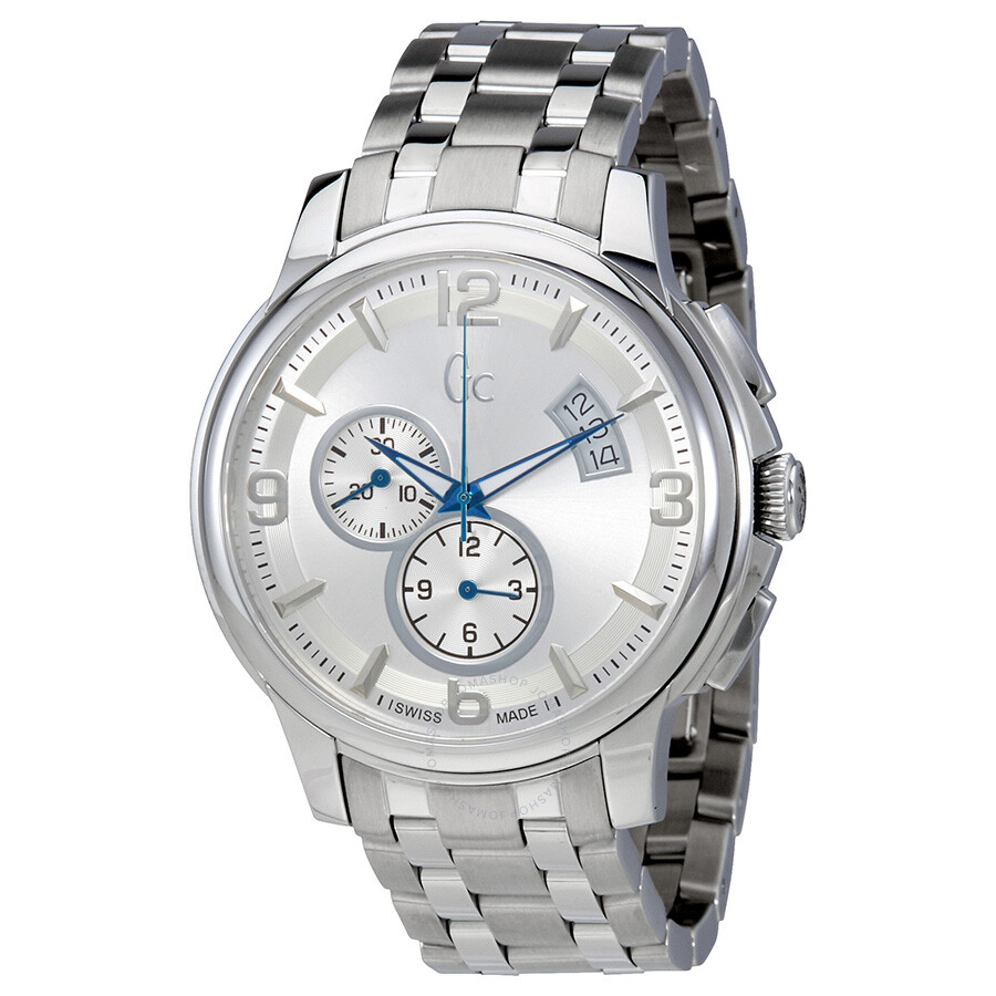 Guess classica chronograph silver dial men 39 s watch x83001g1s guess watches jomashop for Watches guess