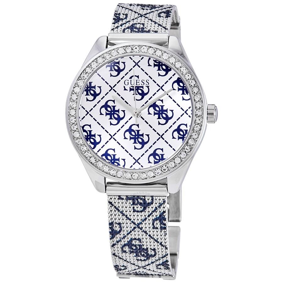 Guess Claudia Quartz Silver Dial Ladies Watch W1279l1 Guess Watches Jomashop