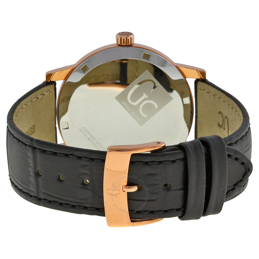 guess collection gc slimclass black dial rose gold tone steel guess collection gc slimclass black dial rose gold tone steel men s watch x60005g2s
