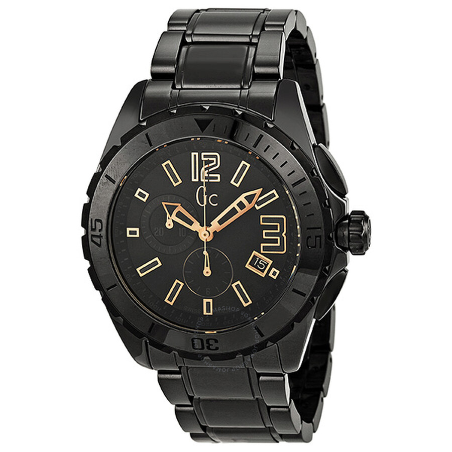 guess collection gc sport chronograph black ceramic s