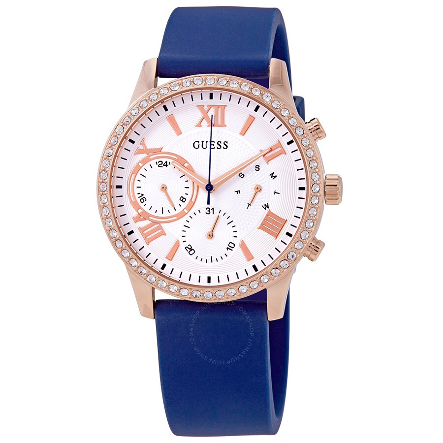 a6068d724 Guess Crystal Silver Dial Ladies Watch W1135L3 - Guess - Watches ...