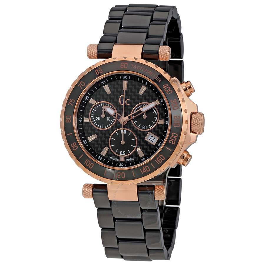 Guess Diver Chic Black Dial Ladies Chronograph Watch X58003g2s