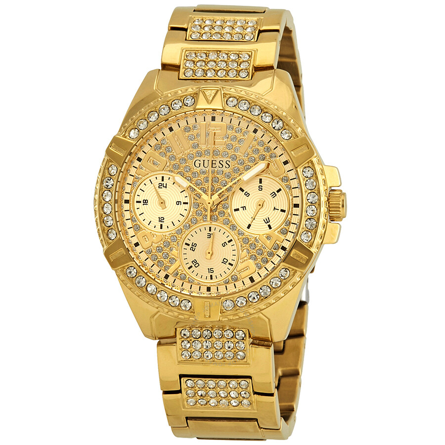 Guess frontier crystal ladies watch w1156l2 guess watches jomashop for Crystal ladies watch