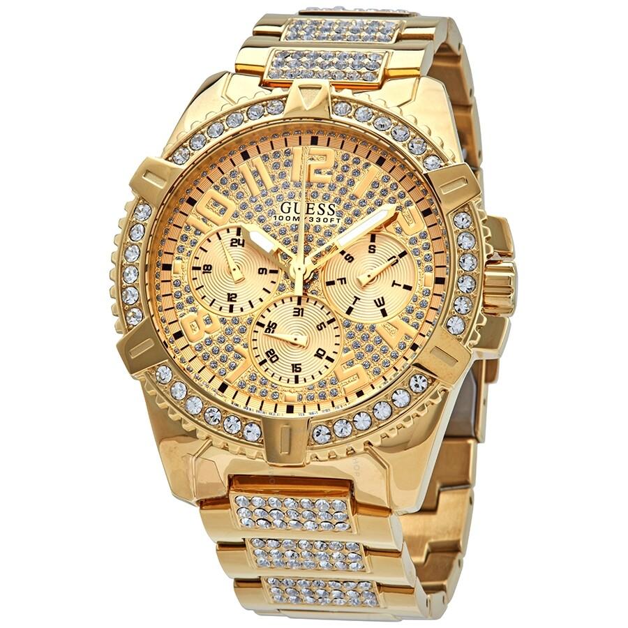 vendita professionale godere di un prezzo economico In liquidazione Guess Frontier Quartz Gold Dial Men's Watch W0799G2 - Guess ...