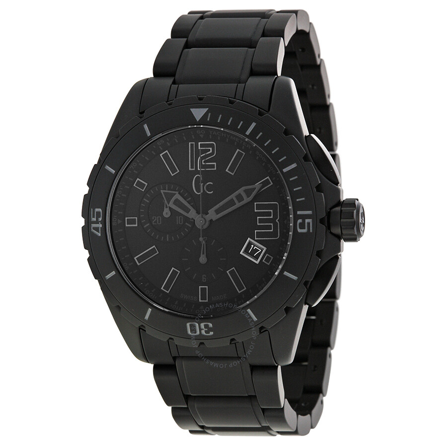 Guess gc sport class xxl blackout ceramic men 39 s watch x76010g2s gc by guess watches jomashop for Ceramic man watch