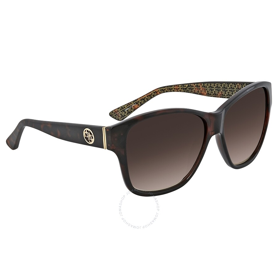 2b554fab62c Guess Gradient Brown Square Sunglasses GU7412 52F 59 - Guess ...