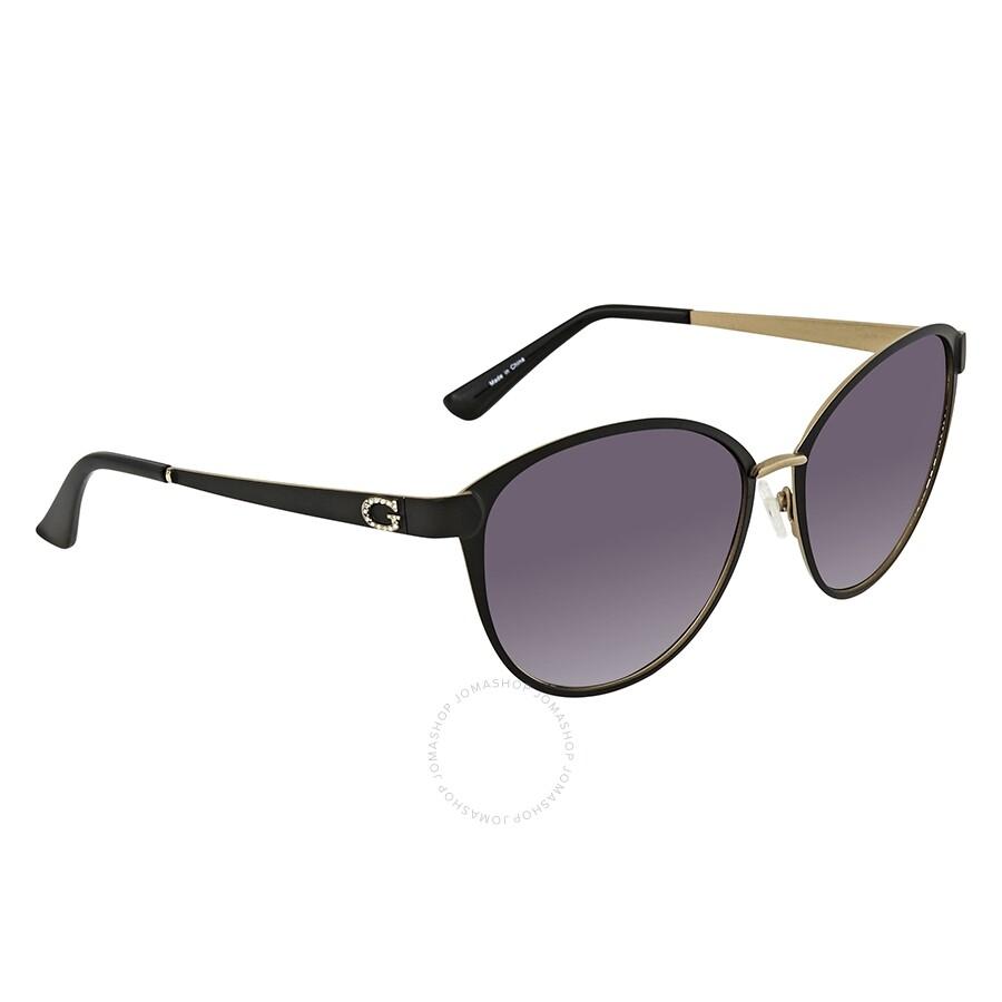 Guess Gradient Smoke Cat Eye Sunglasses GU7442 02B 58