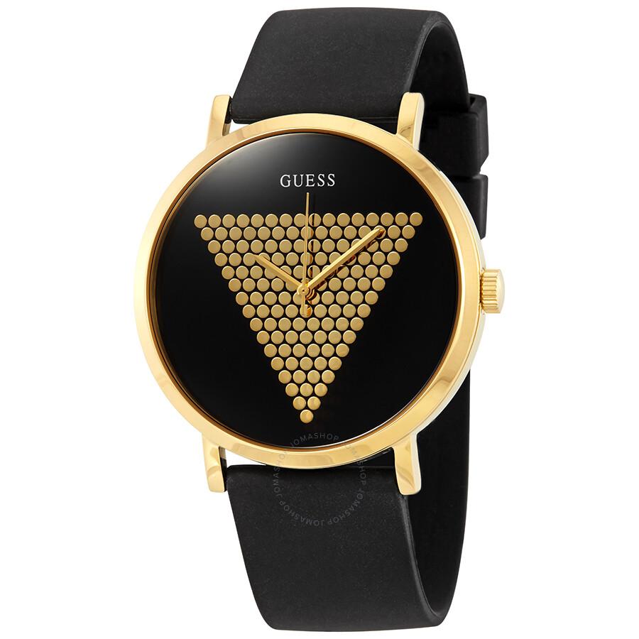 Guess Imprint Black Gold Tone Dial Men S Watch W1161g1