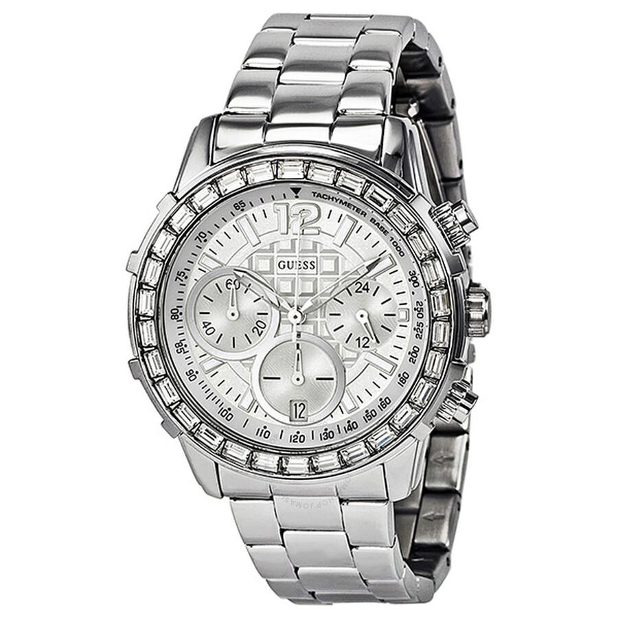 779c98f51 Guess Lady B Chronograph Crystal Bezel Ladies Watch SU0016L1 ...