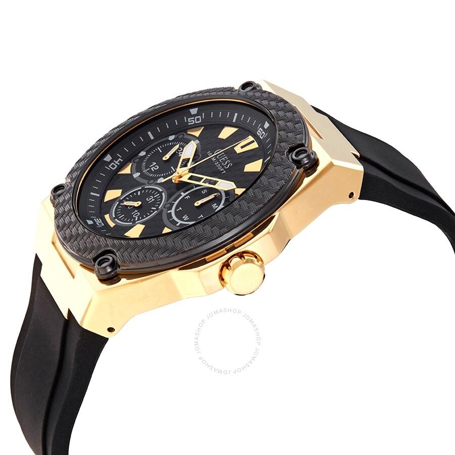 Guess Legacy Quartz Black Dial Men S Watch W1049g5