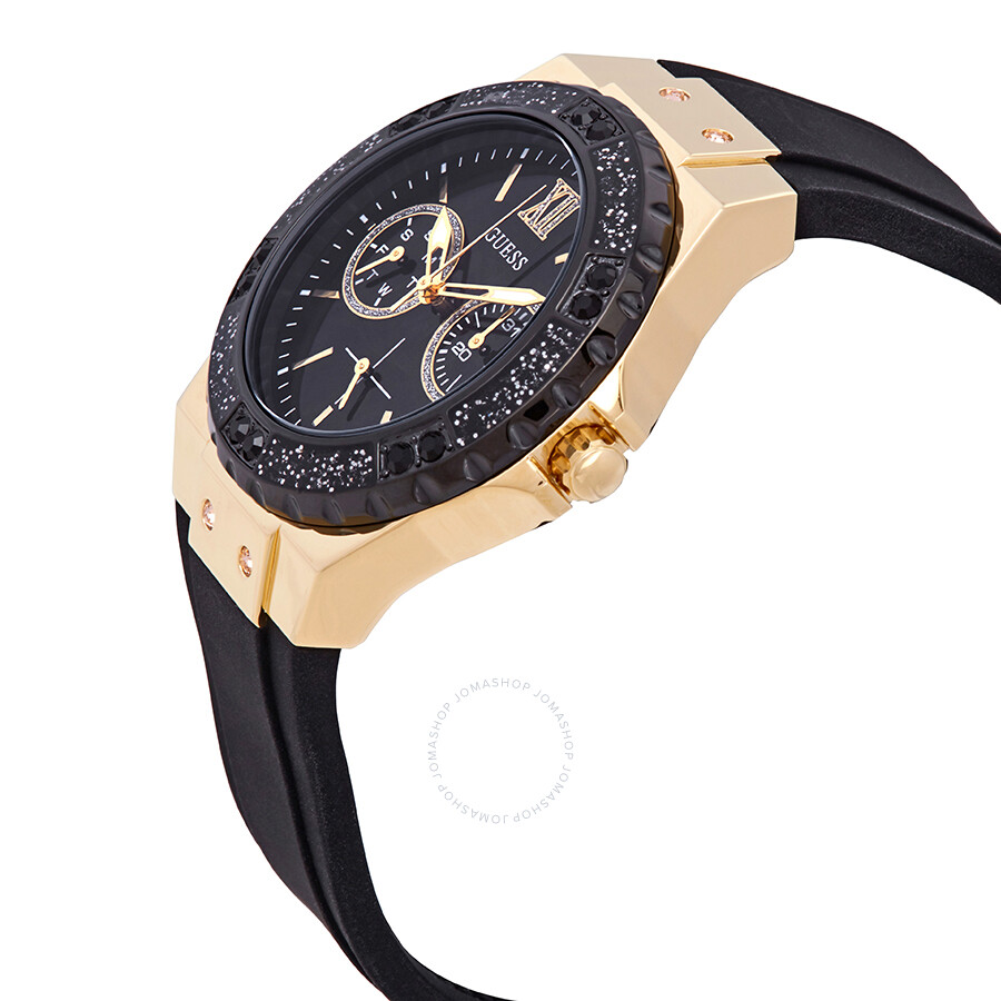 Guess Limelight Crystal Black Dial Ladies Watch W1053l7