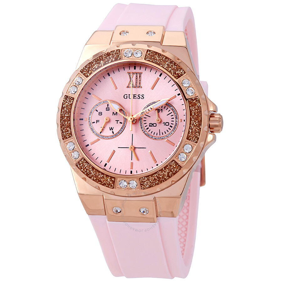 d55b4db0c Guess Limelight Crystal Pink Dial Ladies Watch W1053L3 - Guess ...