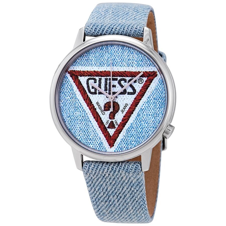 41d3fe82d Guess Originals Blue Denim Logo Dial Unisex Watch V1014M1 - Guess ...