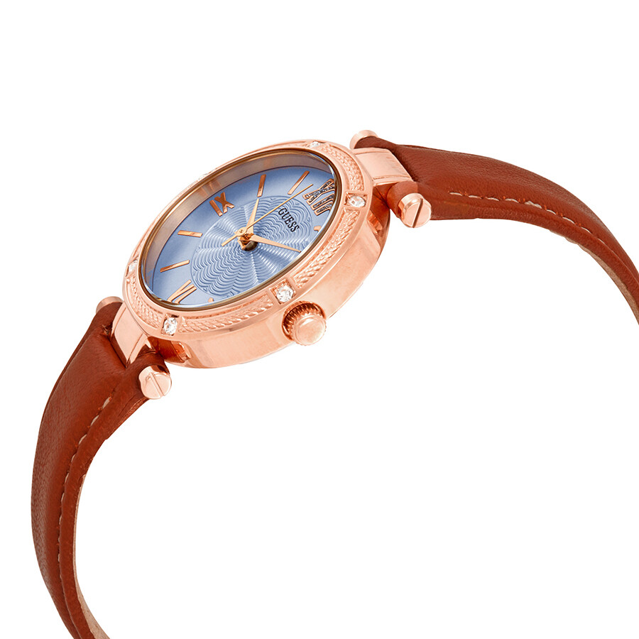 af15cc903233 Guess Park Ave South Crystal Blue Dial Ladies Watch W0838L2 - Guess ...