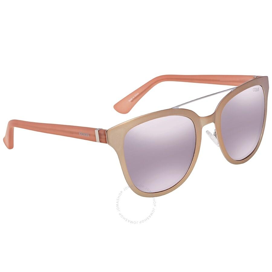 43432b19d4 Guess Pink Grey Mirror Rectangular Sunglasses GU7448 29C 52 - Guess ...