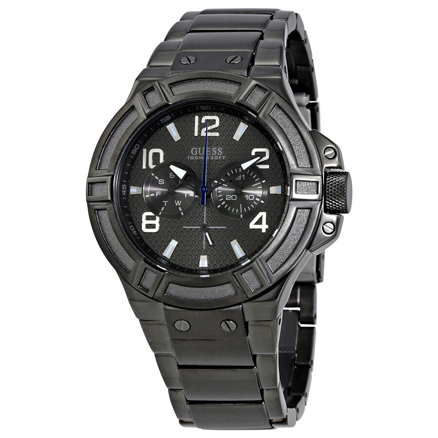 Guess Rigor Multi-Function Grey Dial Men's Watch W0218G1 ...