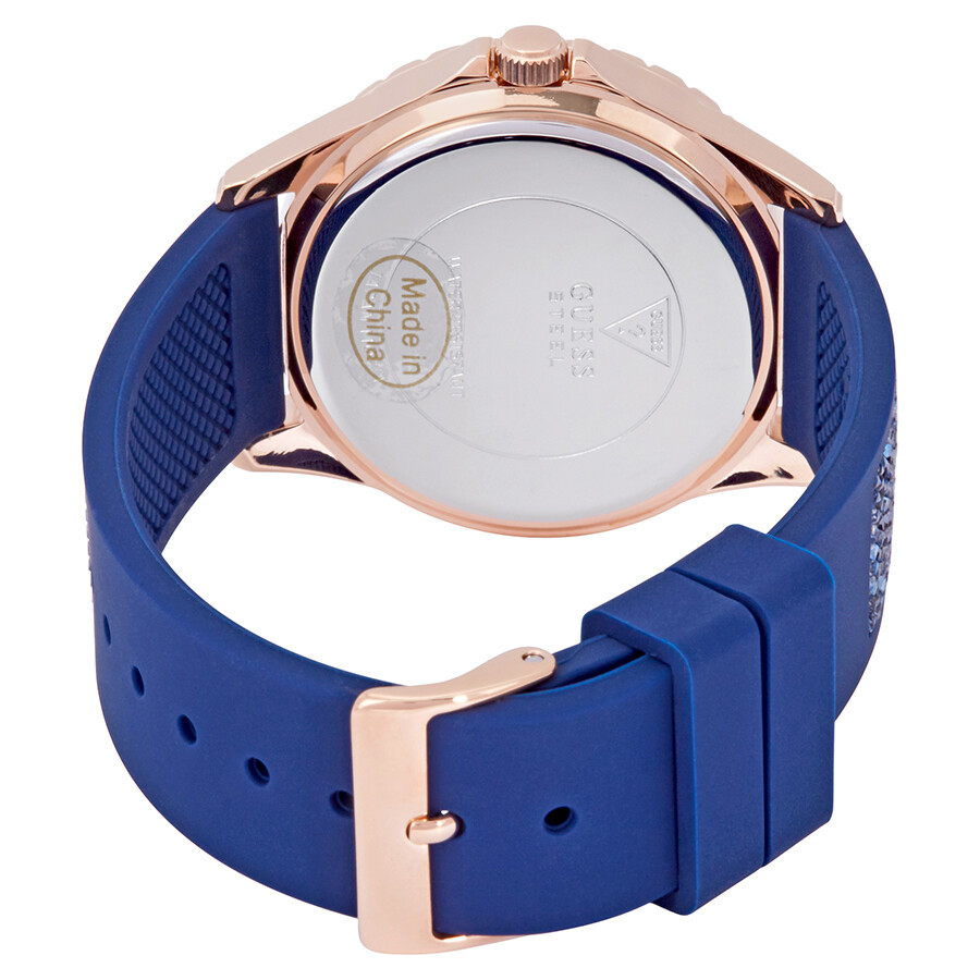 50d048501 Guess Swirl Crystal White Dial Ladies Watch W1096L4 - Guess ...