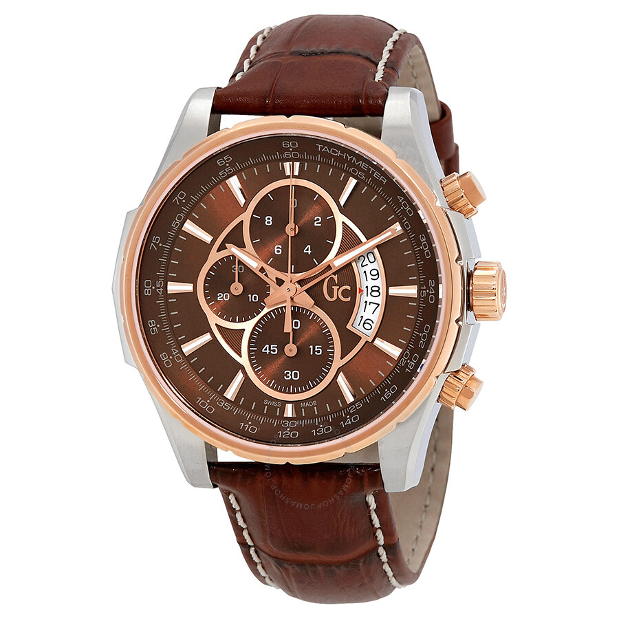 Guess techno class chronograph brown dial men 39 s watch x81002g4s guess watches jomashop for Watches guess