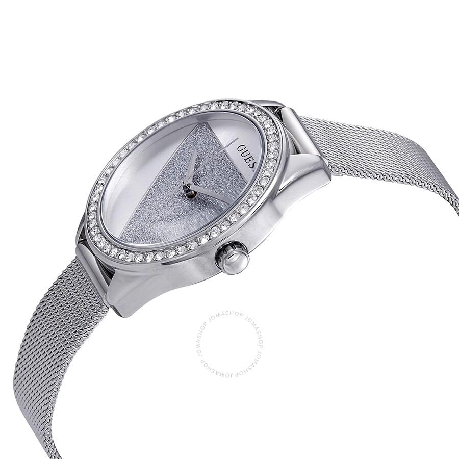 1f4ac689d Guess Tri Glitz Crystal Silver Dial Ladies Watch W1142L1 - Guess ...