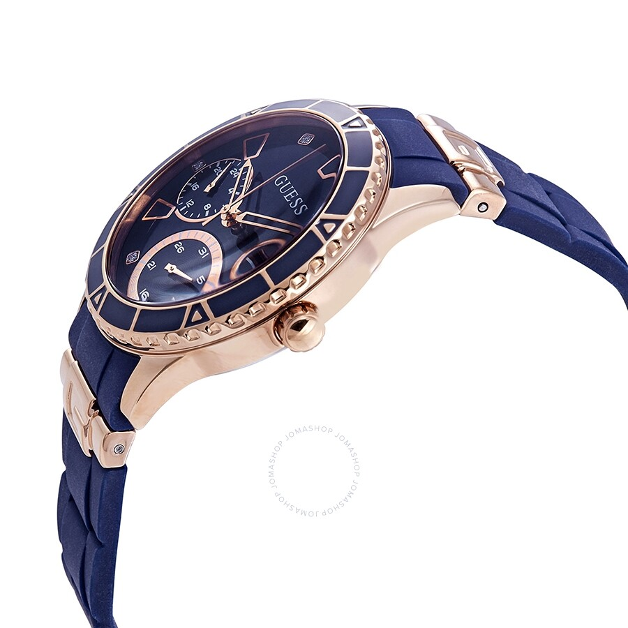 Guess Valencia Blue Dial Ladies Multifunction Watch W1157l3 Guess Watches Jomashop