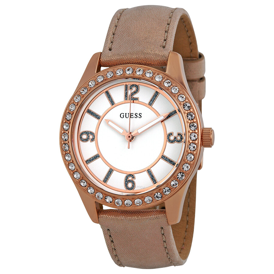 guess white three interchangeable straps