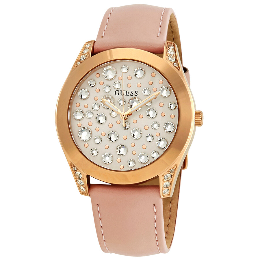 4298e6285 Guess Wonderlust White/Crystal Dial Ladies Watch W1065L1 - Guess ...