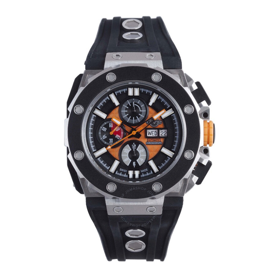 Gv2 by gevril corsaro automatic chronograph orange dial men 39 s watch 8801 gv2 by gevril for Gevril watches