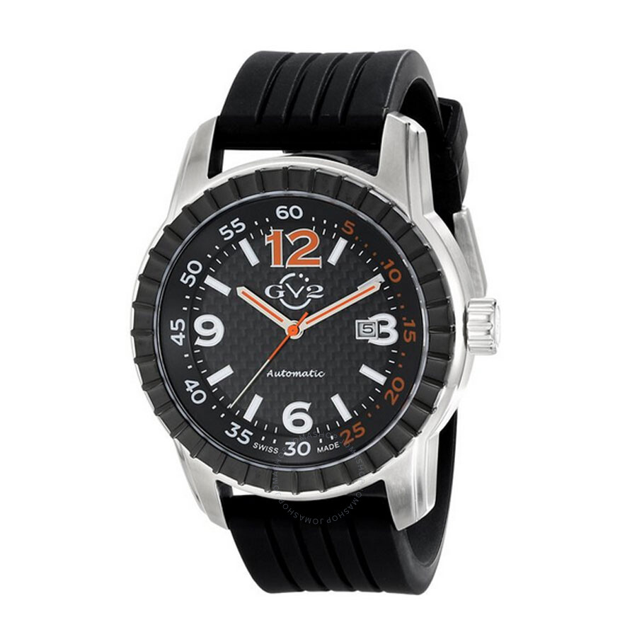 Gv2 by gevril lucky 7 black ip steel case black dial automatic self wind men 39 s watch 9303 gv2 for Gevril watches