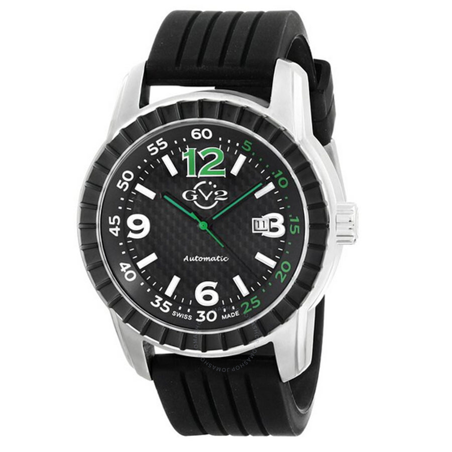 Gv2 by gevril lucky 7 black ip steel case black dial automatic self wind men 39 s watch 9304 gv2 for Gevril watches
