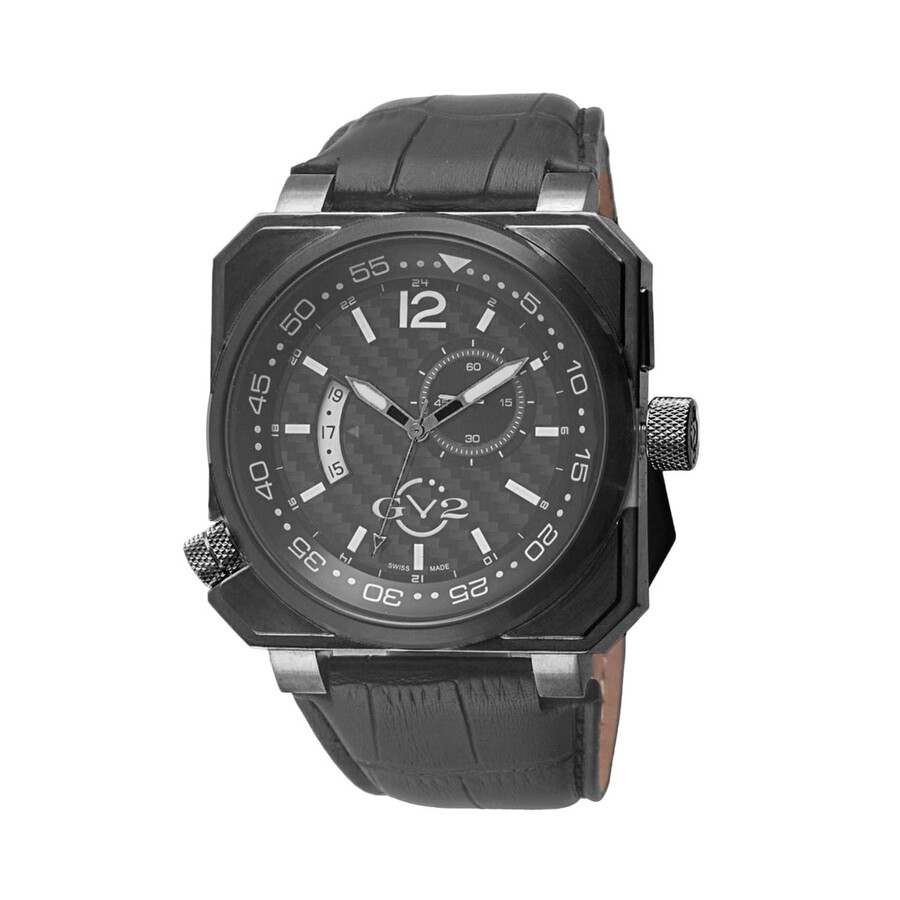 Gv2 by gevril xo submarine carbon fiber dial men 39 s watch 4524 gv2 by gevril watches jomashop for Submarine watches