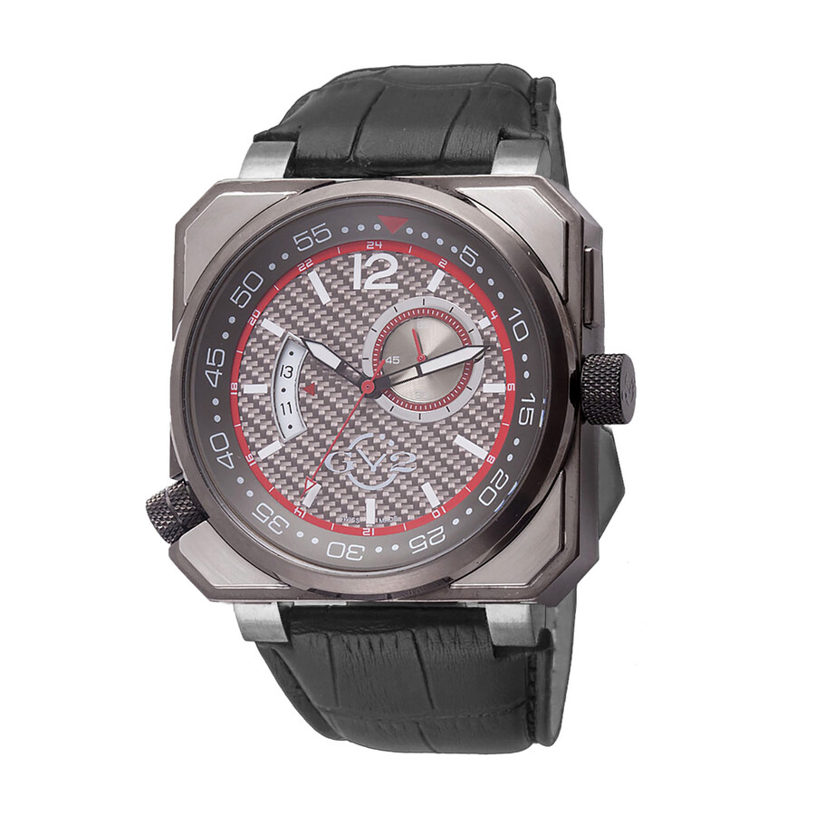 Gv2 by gevril xo submarine grey carbon fiber dial men 39 s watch 4523 gv2 by gevril watches for Gevril watches