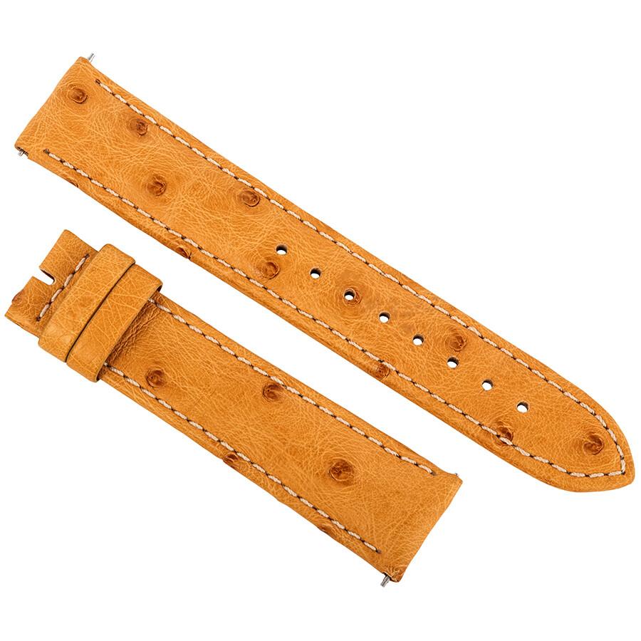291108fc83f9 Hadley Roma 20 MM Matte Light Camel Ostrich Leather Strap - Watch ...