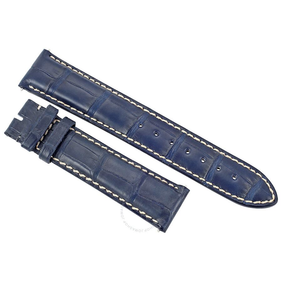 349d1db84 Hadley Roma 20 MM Matte Navy Blue Alligator Leather Strap Item No. 20ABT06C