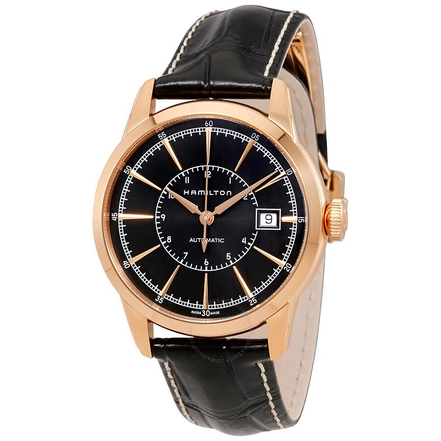 Hamilton american classic automatic black dial men 39 s watch for American classic