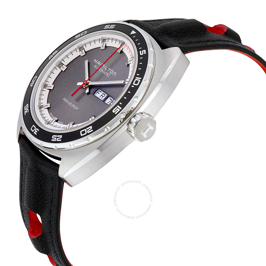 Men's Black Automatic Dial Hamilton American Grey Watch Classic Leather Pan Europ H35415781 SpqMzVGU