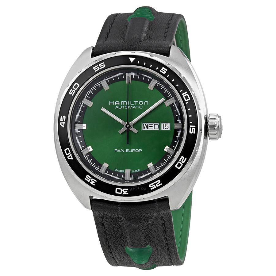 Hamilton American Classic Pan Europ Automatic Green Dial Men S Watch H35415761